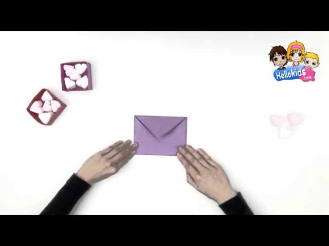 Video manualidades papiroflexia San Valentin CAJA DE PAPEL (Hellokids)