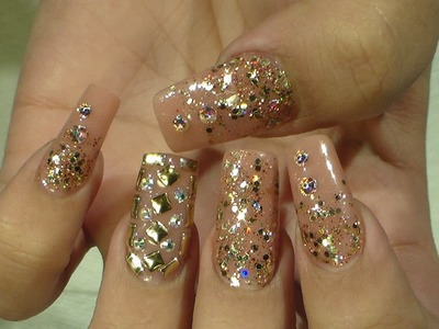 Bling Bling Nails Doradas - Natos Nails