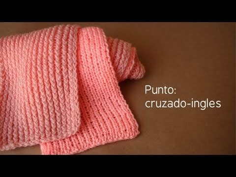 Bufanda de doble punto (cruzado-ingles). Telar maya