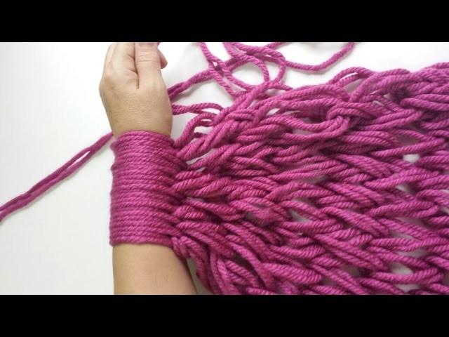 Bufanda infinita con las manos. Infinite scarf with your hand( English Subtitles)