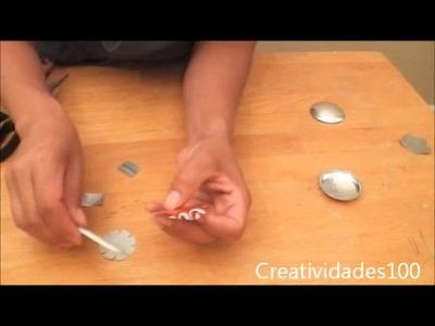 Como cortar, lijar y perforar fondos de bote de lata