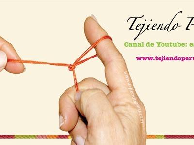 Cordón tejido con los dedos