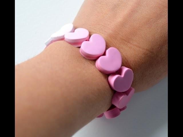 Pulsera corazones degradados - Gradient heart bracelet