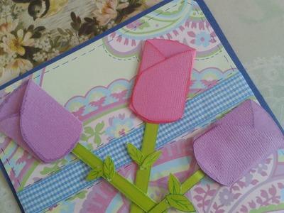 Tulipanes para hacer invitaciones de boda, xv años, baby shower, tarjetas