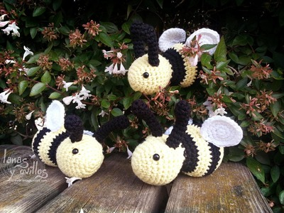 Tutorial Abeja Amigurumi Bee (English subtitles)