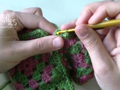 Tutorial Cómo Unir Granny Squares 3 formas