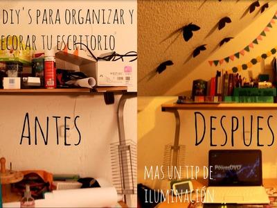 6 diy's para organizar y decorar tu escritorio o cuarto