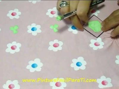 Camisetas con Flores 3 - Pintura Facil Para Ti.wmv