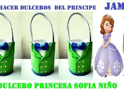 COMO HACER  DULCERO PRINCESA SOFIA NÑO.PRINCIPE JAMES