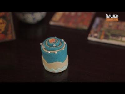 Cómo hacer un cupcake de fieltro