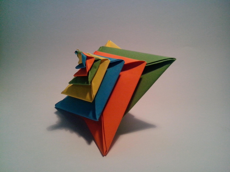 Como hacer una espiral de papel (Origami modular 3D)