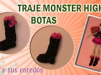 Cómo hacer unas Botas para la muñeca Monster High con gomitas elásticas