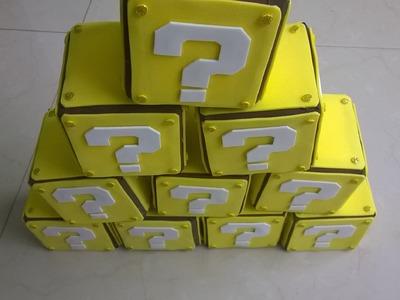 DIY Cajas sorpresa de Mario bros para centro de mesa!!
