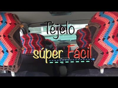 Forro fundas volante, cabeceras y palanca #Crochet #Ganchillo #Diy