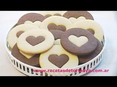 Galletitas de Chocolate y Vainilla - Recetas de Tortas YA!