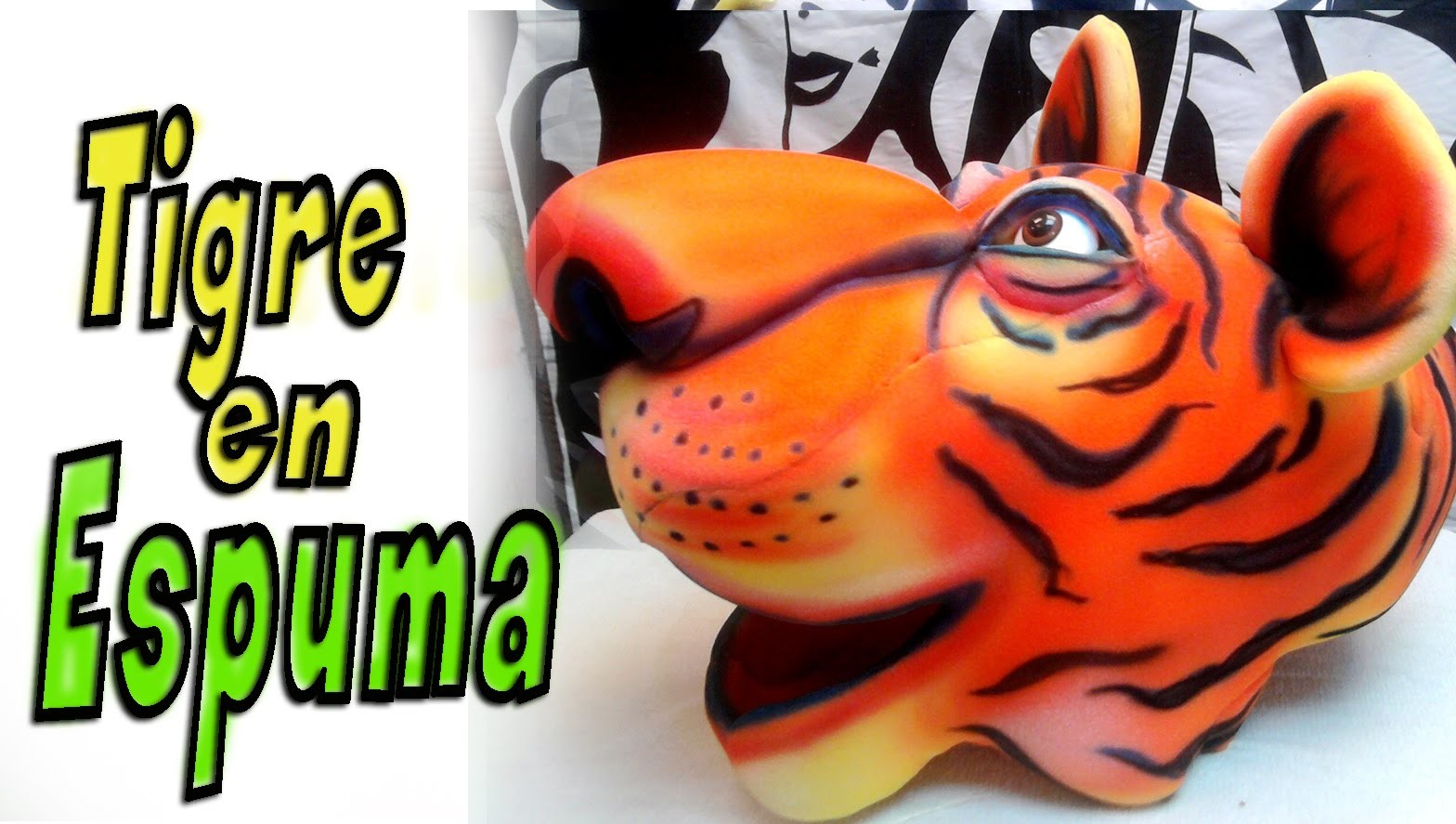 Gorros de goma espuma - Tigre en goma espuma - Tiger foam -tiger mask