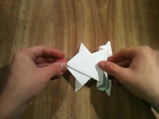 Hacer una rana de papel - Rana saltarina
