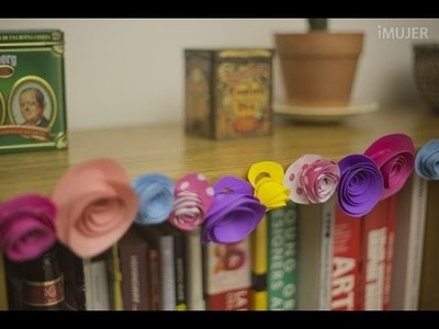 Original guirnalda de rosas en papel