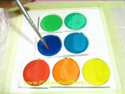 Pintar Tarjetas 1 - Pintura Facil Para Ti.wmv