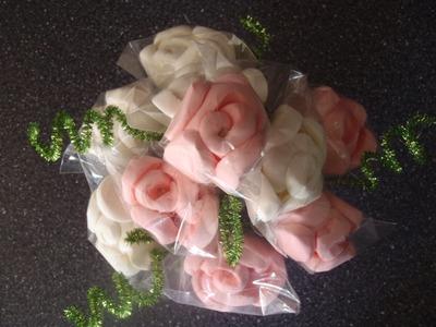 Rosas de bombon Expres y super facil