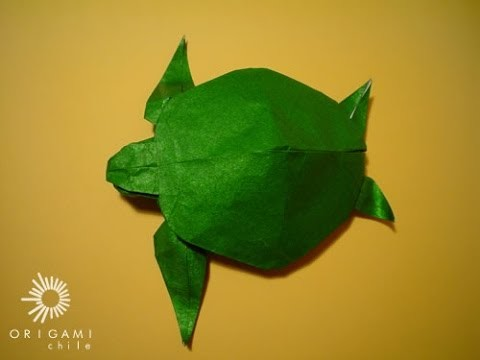Tortuga de papel origami, como hacer tortuga de origami facil pasos