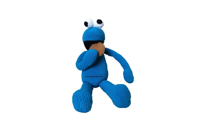 Tutorial Monstruo Galletas Amigurumi Cookie Monster (3-4) (English subtitles)
