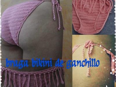 BRAGA BIKINI DE GANCHILLO 2º MODELO