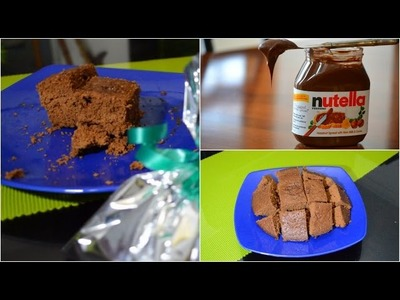 Brownies de nutella sin horno, con sólo 3 ingredientes ♥ -Mariafernandamv
