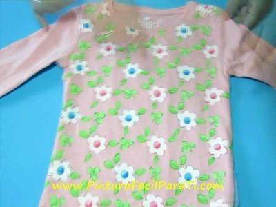 Camisetas con Flores 6 - Pintura Facil Para Ti.wmv