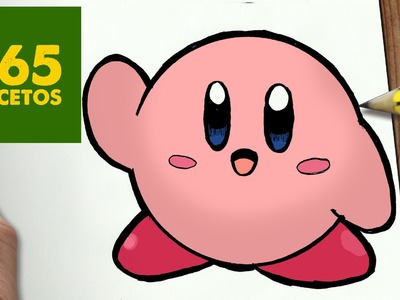 COMO DIBUJAR KIRBY KAWAII PASO A PASO - Dibujos kawaii faciles - How to draw a Kirby
