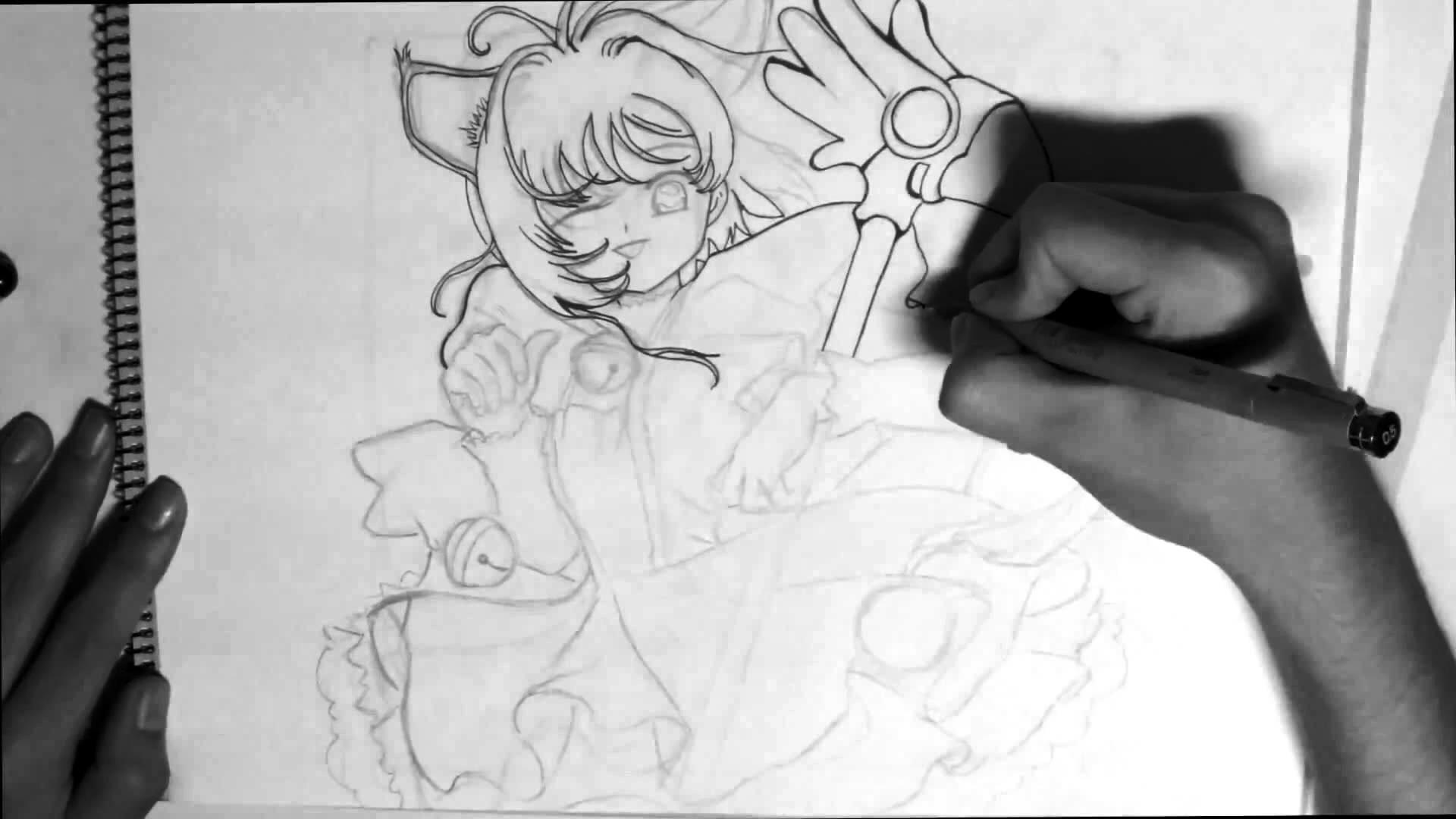Como dibujar Sakura de Sakura Cardcaptor