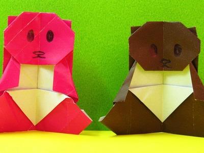 Como hacer un osito cariñosito Regalos para SAN VALENTIN origamis de papel (Muy fácil) ORIGAMI BEAR