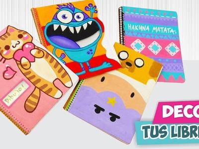 DIY✔ Decora tus cuadernos!        ★Así o más fácil★
