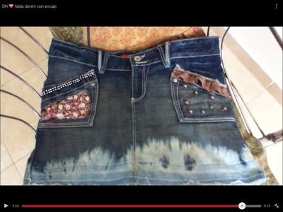 DIY♥ falda denim con encaje