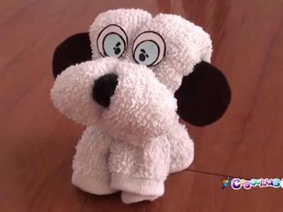 DIY Manualidades. Cómo hacer un perro con una toalla o trapo