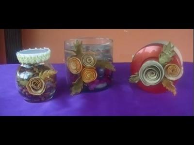 Flores: Rosas con cáscaras de naranja