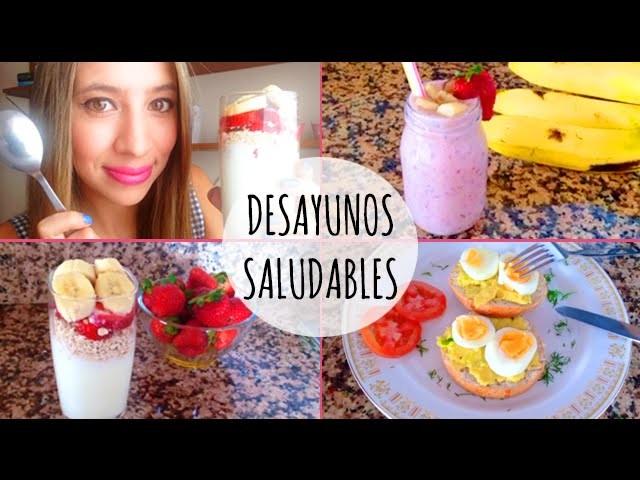Ideas fáciles y saludables para tu desayuno ♡ ɴᴀɴᴄʏ