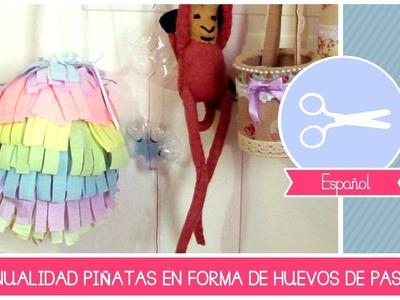 Manualidad Como Hacer una Piñata en forma de Huevo de Pascua by Fantasvale