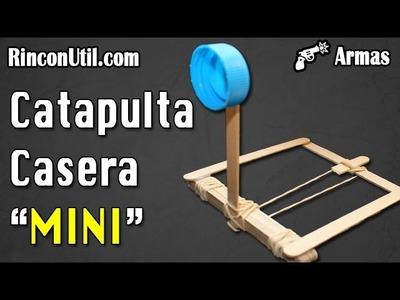 Mini catapulta casera | Armas caseras