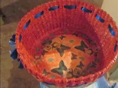 Pastora lesbia de martinez. manualidades cestas de papel periodico