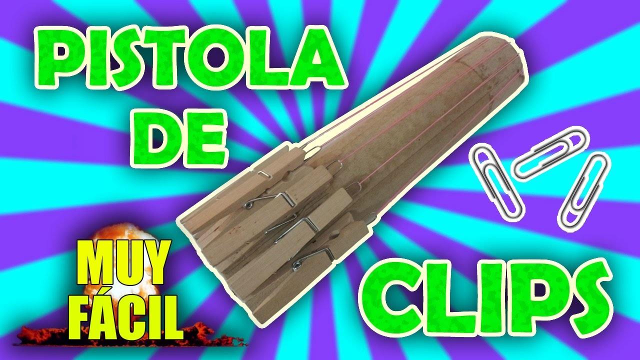 PISTOLA DE CLIPS CASERA. How to make easy homemade gun l\.l galvancius