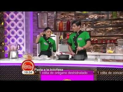 ▶ Receta : Pasta a la boloñesa