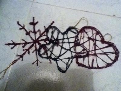 Tutorial de como hacer figuras copos de nieve, corazones y estrellas de navidad con silicona