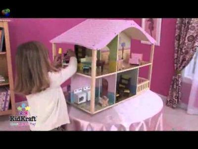 Casas de muñecas de lujo en colores pastel