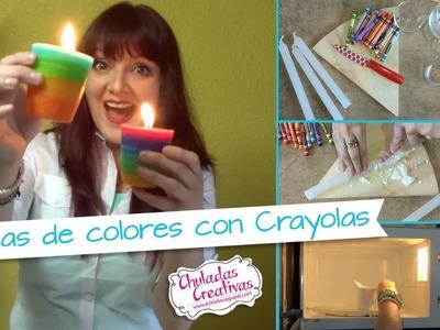 Chuladas Creativas :: Vela con Crayolas :: Manualidades Sammily