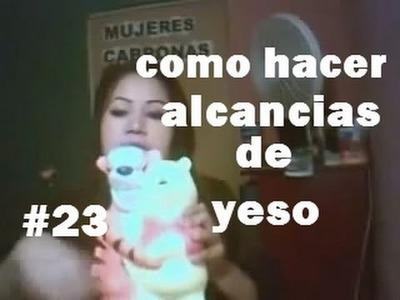 COMO HACER ALCANCIAS DE YESO FACILICIMO