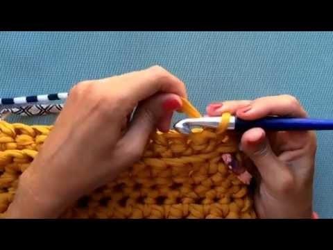 Como hacer bolso tejerlo de trapillo, manualidad bolso tejido