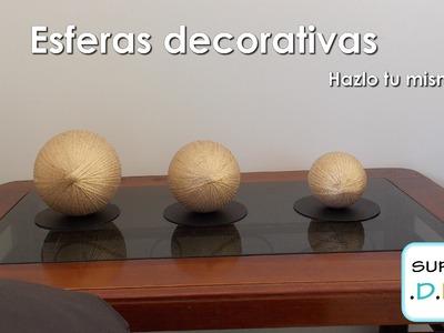 Como hacer Esferas decorativas elegantes fácil y económico.