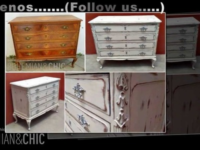 Cómoda vintage estilo shabby.  Vintange chest drawer in shabby style