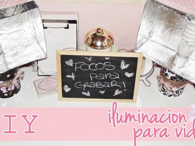 ♥ DIY ♥ Focos Caseros para GRABAR! (Buena iluminación por menos de 10€)